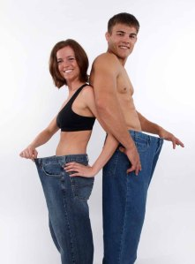 Female and Male showing the weight they loss
