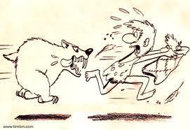 Cartoon of man sprinting