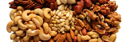 Picture showing various types of nuts